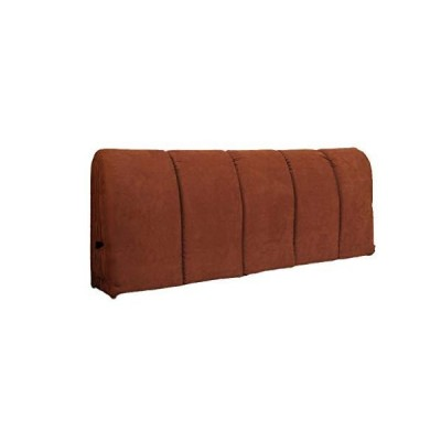 LXLXCS Headboards for King Size Bed Suede Bedside Cushion Waist Pillow Big Zipper Removable and Washable, Wrap Headboard (Color : Coffee, Si