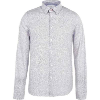 ポールスミス Paul Smith Tailoring メンズ シャツ トップス Paul Long Sleeve Doodles Shirt White
