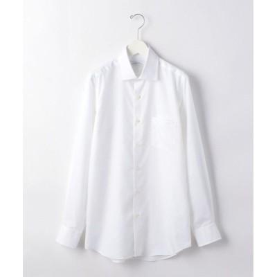 green label relaxing/グリーンレーベル リラクシング スリム ブロード ショート ワイドカラー ドレス シャツ < 機能性 / イージー アイロン > WHITE 38cm