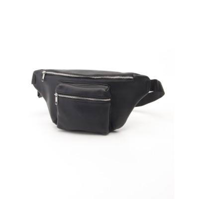 MONICA (モニカ) レディース 合皮ウエストポーチ/ボディバッグ ブラック フリー