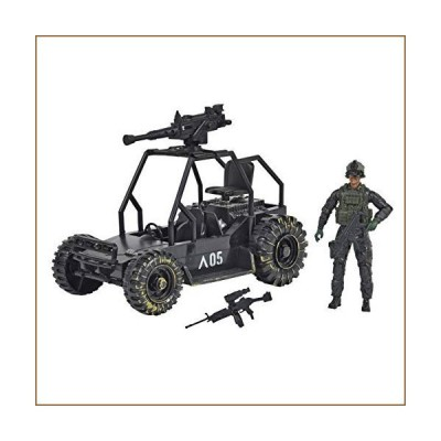 Sunny Days Entertainment Delta Attack Vehicle ? Playset with Action Figure and Realistic Accessories | Military Toy Set for Kids ? Elite