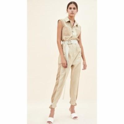フレーム FRAME レディース オールインワン ジャンプスーツ ワンピース・ドレス Tonal Blocked Jumpsuit Khaki Multi