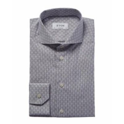 Eton イートン ファッション アウター Eton Contemporary Fit Micro Pattern Dress Shirt 41