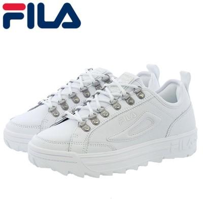 FILA レディーススニーカー ディスラプター コート フィラ 厚底 ブラック F51580010