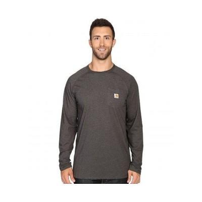Carhartt カーハート メンズ 男性用 ファッション Tシャツ Big & Tall Force Cotton L/S Tee - Carbon Heather