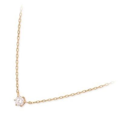ゴールド ネックレス ダイヤモンド 一粒 彼女 誕生日プレゼント 記念日 ギフトラッピング ヴイエーヴァンドームアオヤマ 送料無料 レディース