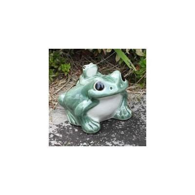 信楽焼 5号蛙 カエル 陶器蛙 やきもの 陶器 しがらきやき 蛙 陶器かえる 信楽焼カエル かえる 庭 やきもの蛙 かえる置き物 青蛙 陶器 ka-0051