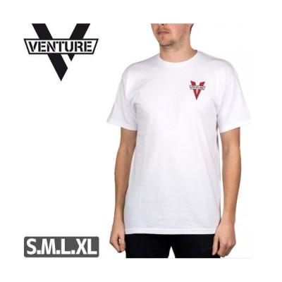ベンチャー VENTURE TRUCKS スケボー Tシャツ  HERITAGE DOUBLE [ホワイト]NO26