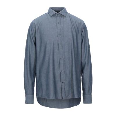 R3D WÖÔD シャツ ブルーグレー XL コットン 100% シャツ