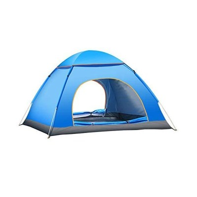UDSNIS キャンプテント 1/2/3/4人用 アウトドアテント 簡単ポップアップクイックセットアップ2層 ビーチテ