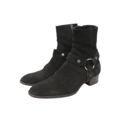 SAINT LAURENT PARIS ワイアットハーネスリングブーツ ブラック サイズ:41 (フレスポ東大阪店) 210310