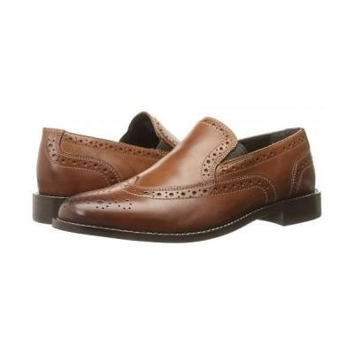 Nunn Bush ナンブッシュ メンズ 男性用 シューズ 靴 ローファー Norris Wing Tip Double Gore Dress Casual Slip-On - Cognac