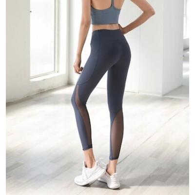 2021新型 長ズボン パンツ女性ストレッチヨガパンツランニングハイウエストヒップタイトパンツ 半ズボン速乾ベスト式運動下着 速乾光防止ヨガ服 吸湿 汗 ランニング ランニング服 05