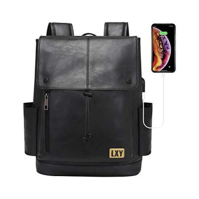 LXY バックパック 財布 レディース メンズ 15.6インチ ノートパソコン用ブックバッグ USB充電ポート付き,