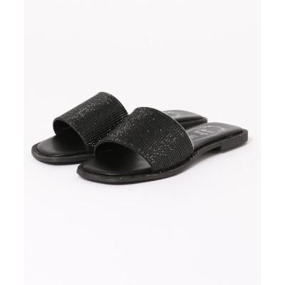 Parade ワシントン靴店 / 【スクエアトゥ】キラキラ☆ラインストーンフラットサンダル 1207 WOMEN シューズ > サンダル