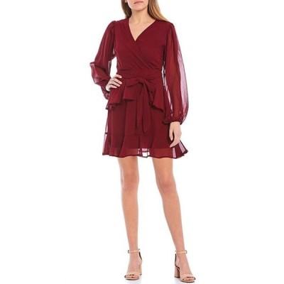 ジービー レディース ワンピース トップス Tiered Ruffle Long Sleeve Dress