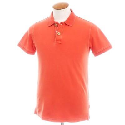 フラディ FRADI コットン鹿の子 半袖ポロシャツ フレイムオレンジ M
