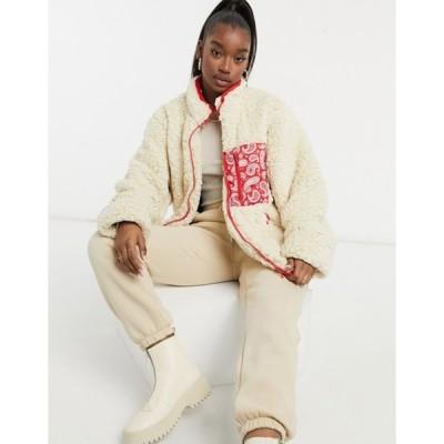 ナイト アディクト レディース ジャケット・ブルゾン アウター Night Addict oversized oversized borg jacket with bandana pocket