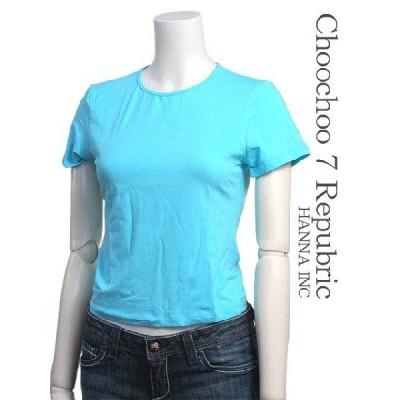 FERRE JEANS カットソー サイズ-S Tシャツ ライトブルー/水色 シンプル 着丈短め ロゴ レディース トップス #ferff6703-351-S