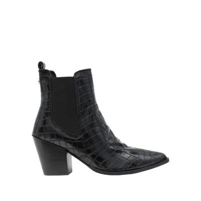 STEVE MADDEN ウエスタンショートブーツ ファッション  レディースファッション  レディースシューズ  ブーツ  その他ブーツ ブラック