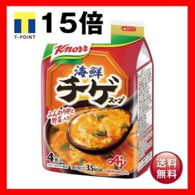 (まとめ)味の素 クノール 海鮮チゲスープ9.4g 1袋(4食)〔×10セット〕