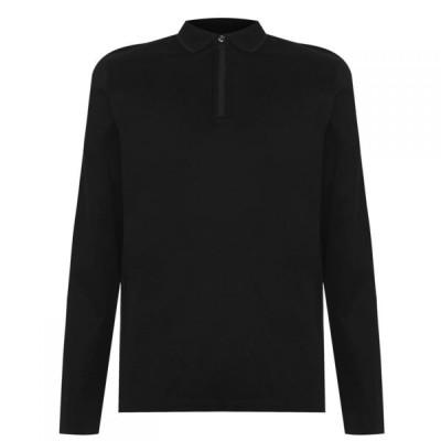 ヒューゴ ボス Hugo メンズ ポロシャツ トップス Deoz Ls Polo Sn04 Black