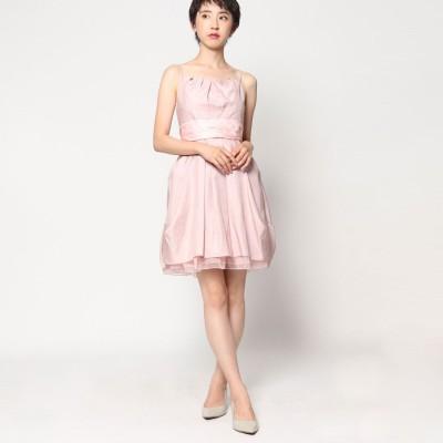 ジュネビビアン Genet Vivien ドット柄ドレス (ピンク)