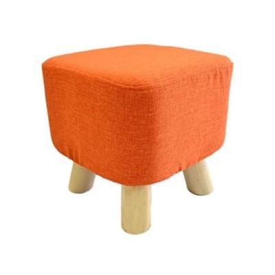 さいころスツール ロータイプ オレンジ OSR-013 (オレンジ 29×29×29cm)