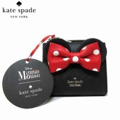ケイトスペード kate spade 財布 ミニー ディズニー Disney アウトレット ミニ財布 ミニーマウス レザー 二つ折り財布 Minnie Mouse