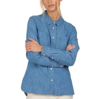 バーブァー レディース シャツ トップス Tynemouth Cotton Shirt