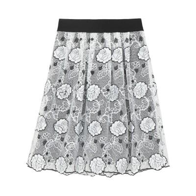 CRISTINAEFFE ひざ丈スカート ホワイト 42 ポリエステル 100% ひざ丈スカート