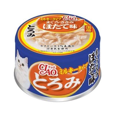 いなばペットフード CIAO(チャオ)とろみ缶 ミルキータイプ まぐろ・ささみ ほたて味80g【国産品】【猫缶】