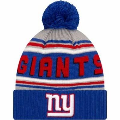 ニューエラ New Era メンズ ニット ビーニー 帽子 47 New York Giants Royal Cuffed Cheer Knit Beanie
