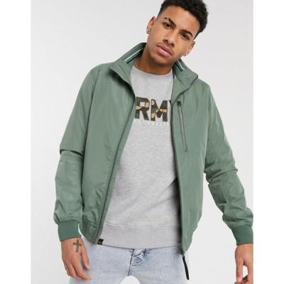 トムテイラー ジャケット ジャンパー ブルゾン メンズ Tom Tailor bomber jacket with zip detail in khaki エイソス ASOS グリーン 緑