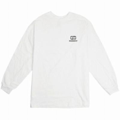 ロングTシャツ ホワイト 大人 ユニセックス メンズ レディース ビッグシルエット 長袖 ロンT ワンポイント ちいさめ ロゴ シンプル スポ