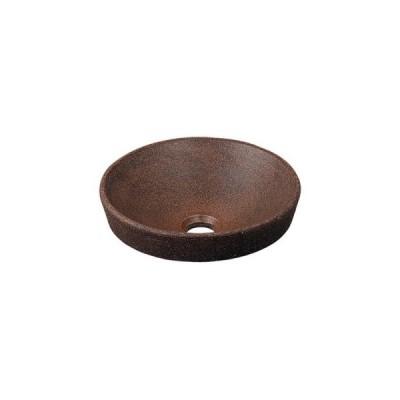 カクダイ 丸型手洗器窯肌 493-012-M