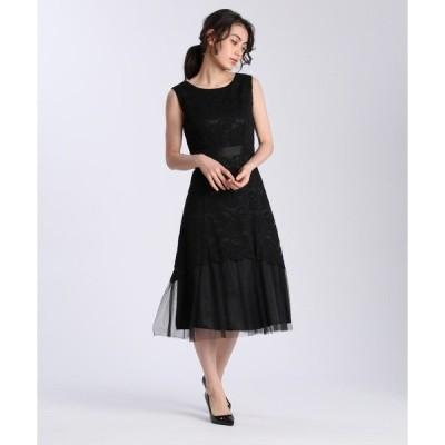 ドレス 【結婚式や2次会に】ノースリーブレースワンピース<お呼ばれドレス>