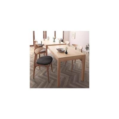ダイニングテーブルセット 6人用 椅子 おしゃれ 伸縮式 伸長式 北欧 7点 ( 机+チェア6脚 ) デザイナーズ スタイリッシュ 大きい 幅140 150 160 180 200 220