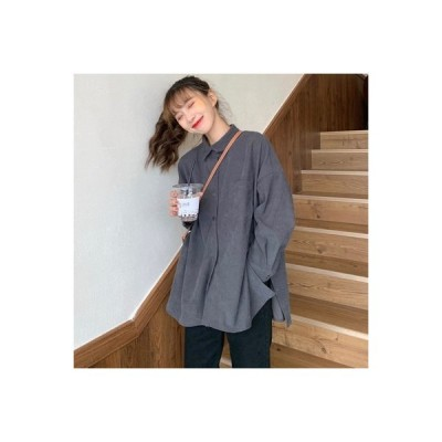 【送料無料】シャツ 女性 デザイン 感 小 秋 年 レトロ コーデュロイ ル | 364331_A63709-0420270