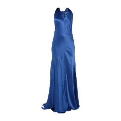 アルベルタ フェレッティ ALBERTA FERRETTI ロングワンピース&ドレス ブルー 44 シルク 100% ロングワンピース&ドレス