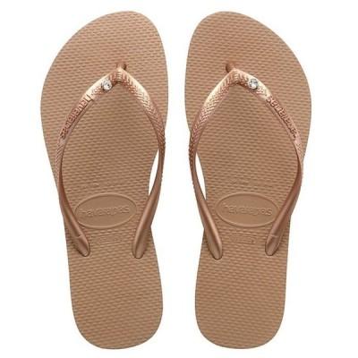 ハワイアナス レディース サンダル シューズ Women's Slim Crystal SW II Flip Flops