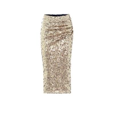 ドルチェ&ガッバーナ Dolce & Gabbana レディース ひざ丈スカート スカート Sequined midi skirt Gold