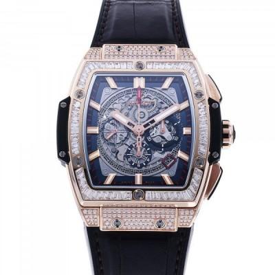 ウブロ HUBLOT スピリット・オブ・ビッグバン キングゴールド ジュエリー 601.OX.0183.LR.0904 グレー文字盤 中古 腕時計 メンズ