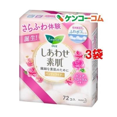 ロリエ しあわせ素肌 パンティライナー ピュアフローラルの香り ( 72個入*3袋セット )/ ロリエ