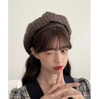 (miniministore/ミニミニストア)ベレー帽 レディース おしゃれ 帽子 小顔効果 シンプル ハット帽子 大人 サイズ調整 かぼちゃベレー カジュアル キャップ/レディース ブラウン