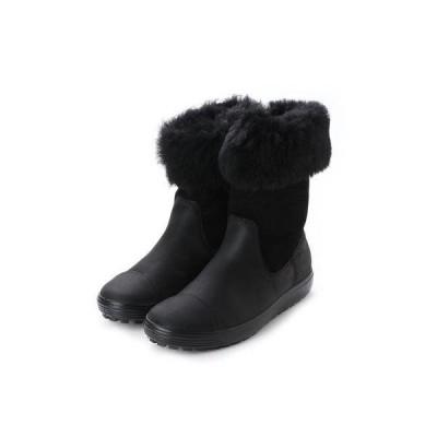エコー ECCO Womens Soft 7 TRED Boot (BLACK/BLACK)