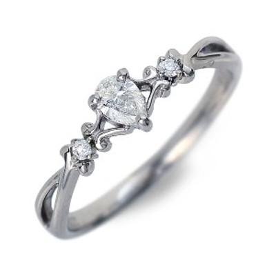 リング 指輪 レディース J luxe プラチナ ハート ダイヤモンド 4月の誕生石 誕生日プレゼント ギフト