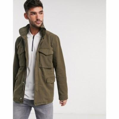 ポールスミス PS Paul Smith メンズ ジャケット アウター field jacket with zip detail in khaki グリーン