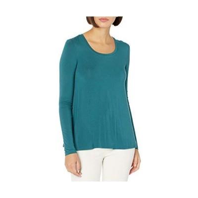 Tシャツ Daily Ritual Tシャツ Jersey LongSleeve ScoopNeck Swing Shirt レディース ティール L