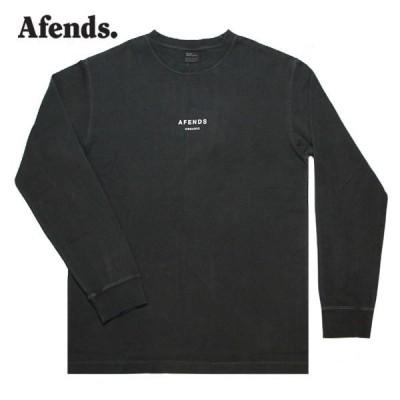 AFENDS,アフェンズ/21SP/長袖Tシャツ/Premium Organic Retro Fit L/S Tee・M212066/BLACK・ブラック/無地/ユニセックス/バイロン